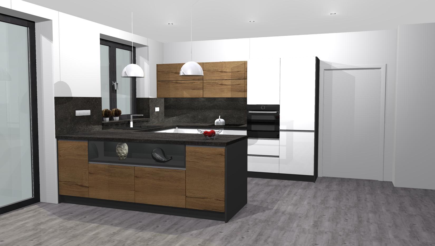 bfc739c76d5e 3D Návrh kuchyně Frenštát p.R.